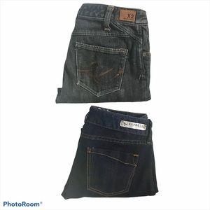 Express Bundle Of 2 Denim Capri Jeans
